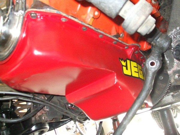 Vega oil pan painted and installed.jpg